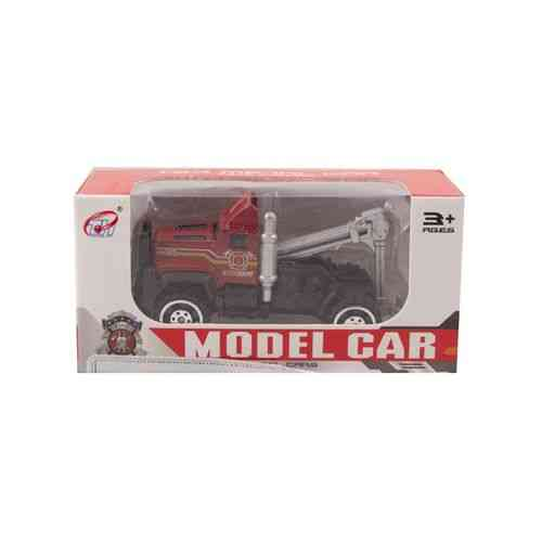 Die Cast Metal Police Roll Back Car - Red - A