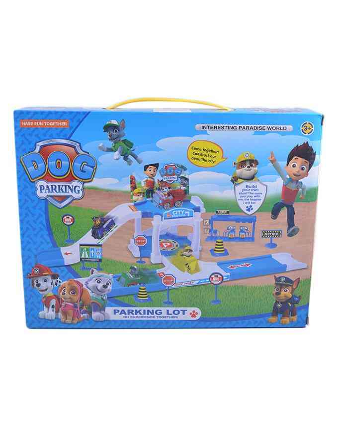 Build Your Own Stunt Parking Lot Builder Toy for Kids - 12x9 Inch Box - 3+ Years