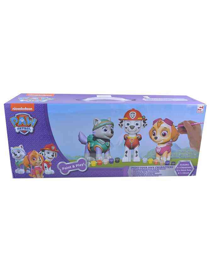 Paint Your Own Dogs Toy for Kids - Includes 3 Characters 12 Paint Boxes and 1 Brush - 3+ Age