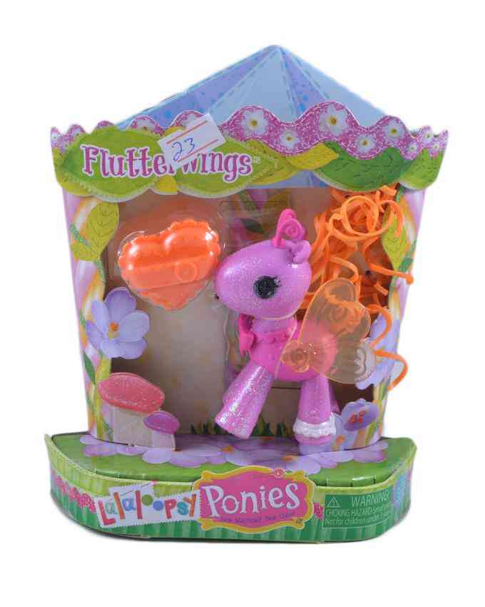 Pack of 2 - Glitter Pony Figure Toy For Kids - 5.5 Inch Box - Pink