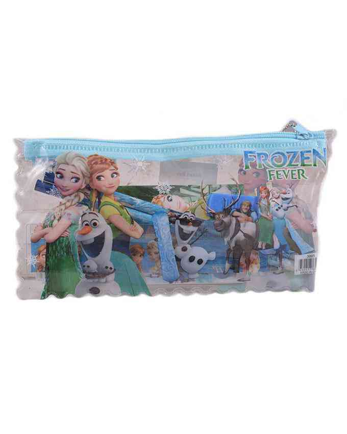 Good Quality Cartoon Character Pencil Box Gift For Kids (Box/ 2 Pencils/ 1 Notebook/ 1 Sharpener/ and 1 Scale) - Frozen