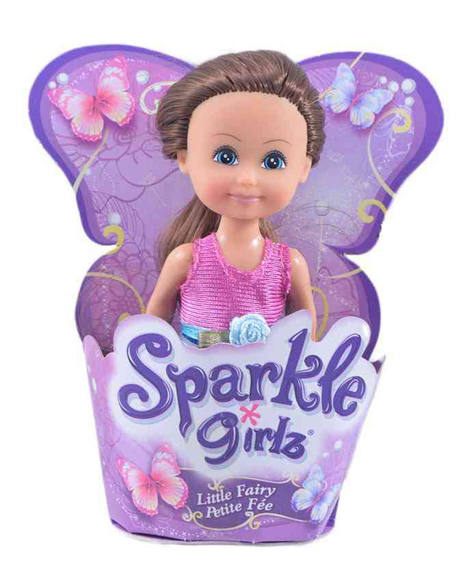 4.5 Inch Sparkle Girls Rubber Doll Figure for Kids - Collect Them All - B
