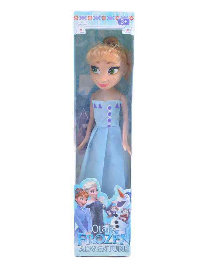 Good Quality Frozen Smooth Rubber Doll for Kids - 10 Inch - B