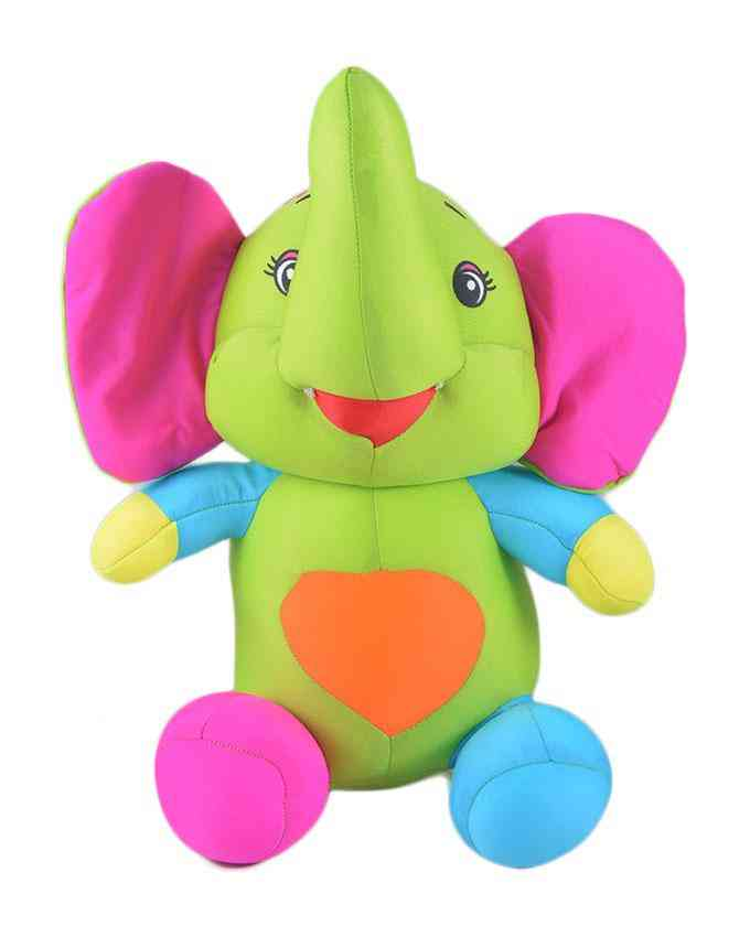 Thick and Good Quality Soft Bean Stuffed Toy For Kids - Elephant - 14 Inch