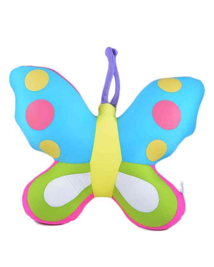 Thick and Good Quality Soft Bean Pillow For Kids - Butterfly - 14 Inch