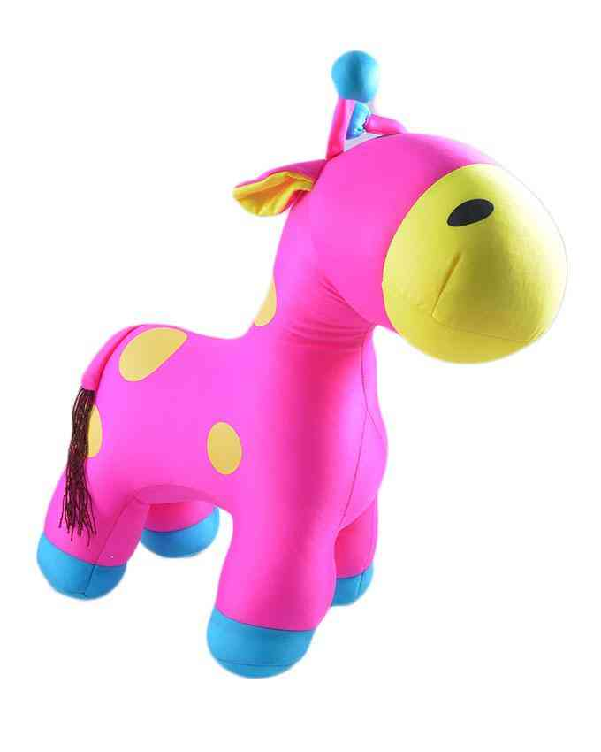 Thick and Good Quality Soft Bean Stuffed Toy For Kids - Giraffe - 19 Inch