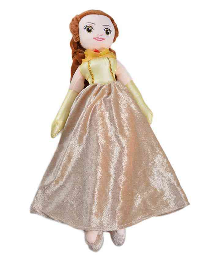 Thick and Good Quality Soft Stuffed Toy For Kids - Cute Girl With Long Hairs - 19 Inch