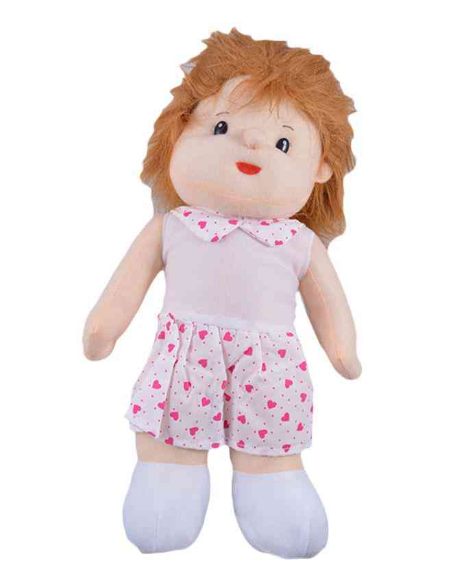 Thick and Good Quality Soft Bean Stuffed Toy For Kids - Cute Stuffed Girl - 19 Inch
