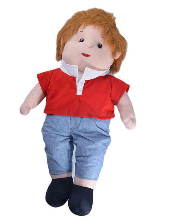 Thick and Good Quality Soft Stuffed Toy For Kids - Cute Boy With Cute Hairs - 22 Inch Length - 5 Inches Thick