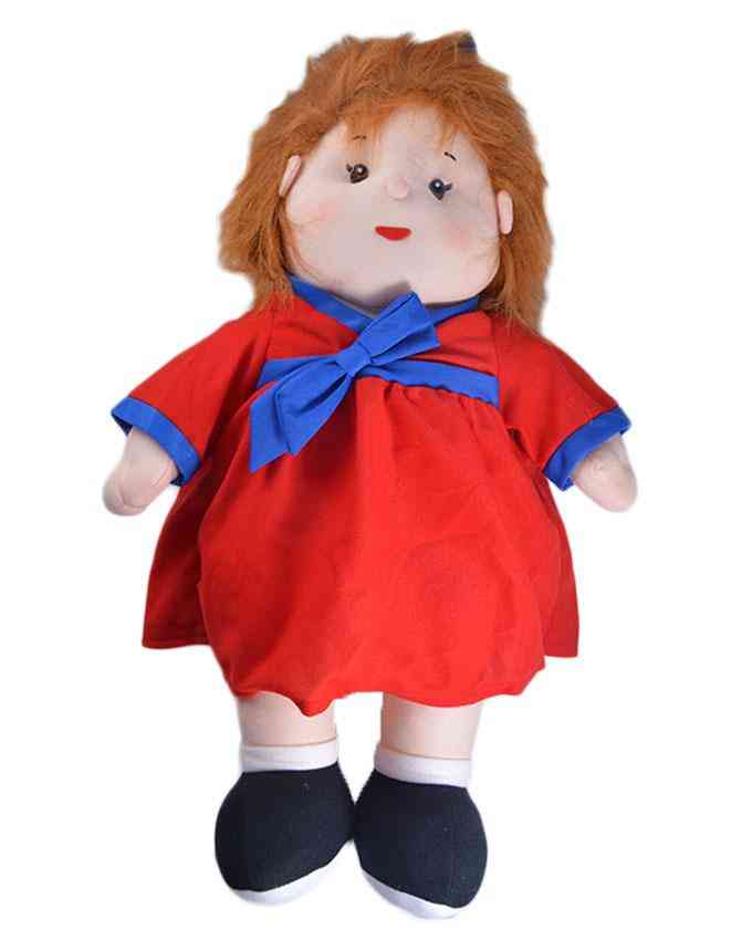 Thick and Good Quality Soft Stuffed Toy For Kids - Cute Girl With Cute Hairs - 22 Inch Length - 5 Inches Thick