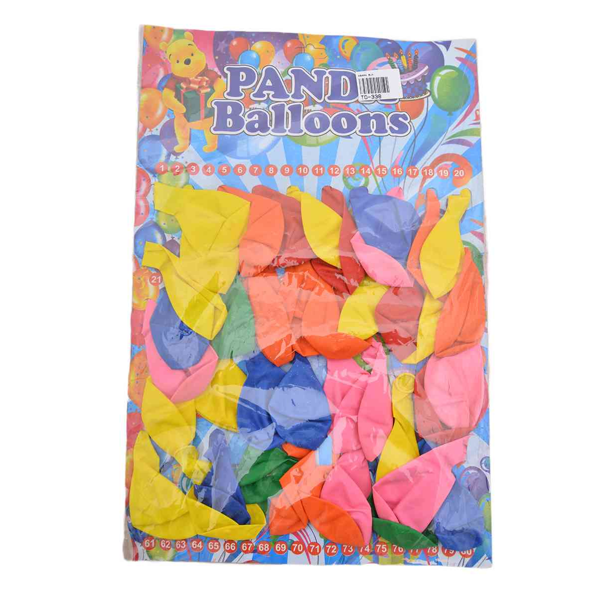 Pack of 40 Large Sized Plain Balloons For Picnic and Parties
