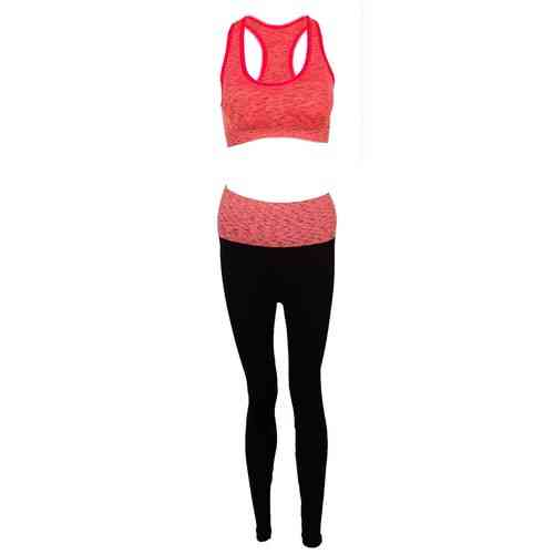 Thailand Women's Track Suit Yoga Suit Gym Suit - Sports Bra and Trouser Set For Women - Red