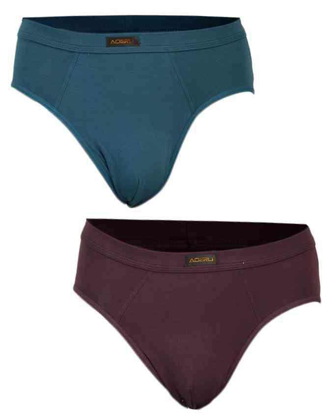 Pack of 2 Modal Fabric Spandex Underwear for Men - Plain