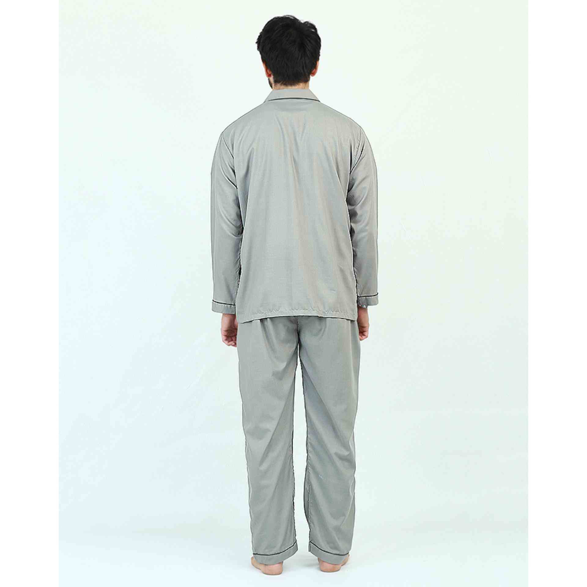 Pack of 2 Cotton Polyester Night Suit (Pajama + Shirt) for Men - Light Green