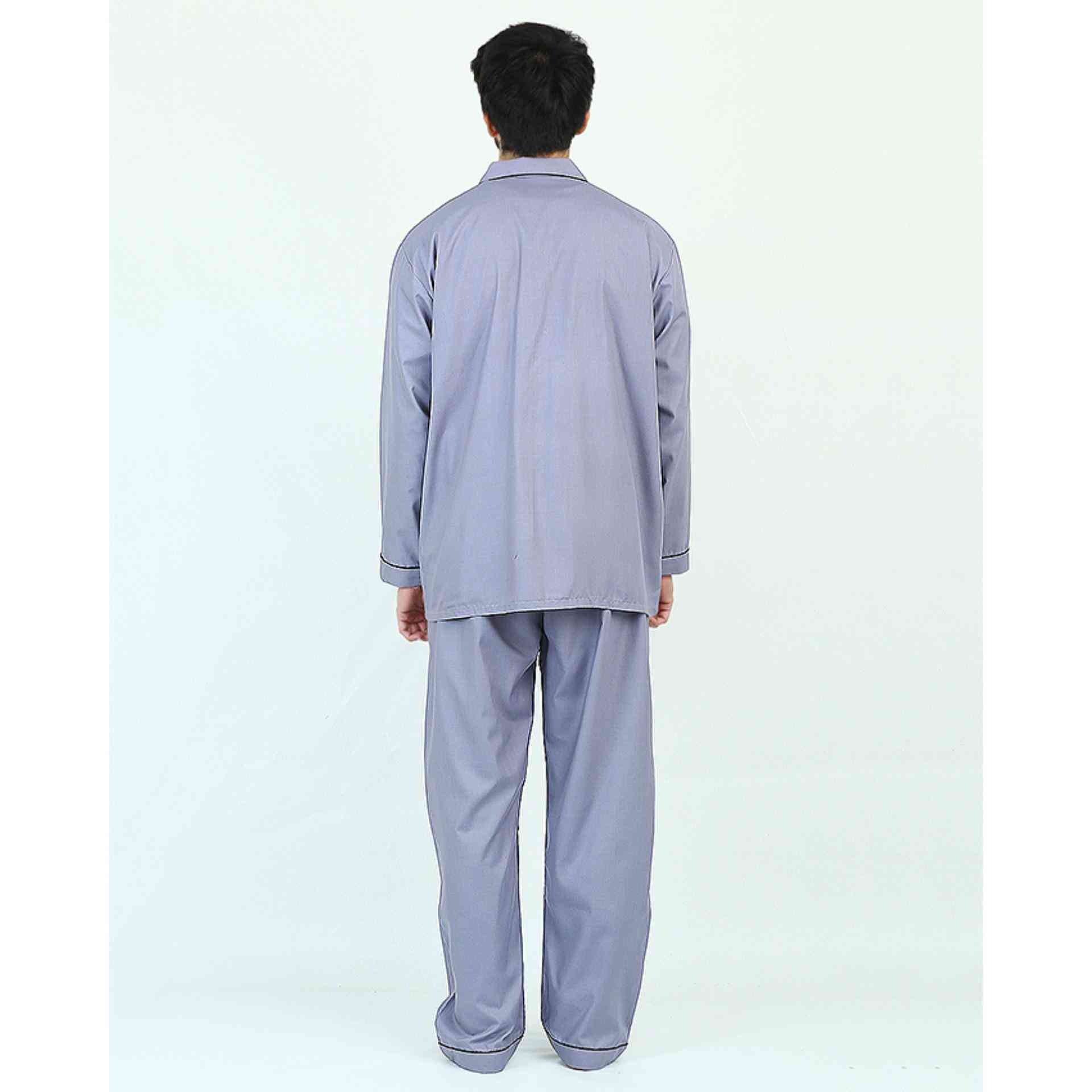 Pack of 2 Cotton Polyester Night Suit (Pajama + Shirt) for Men - Grey