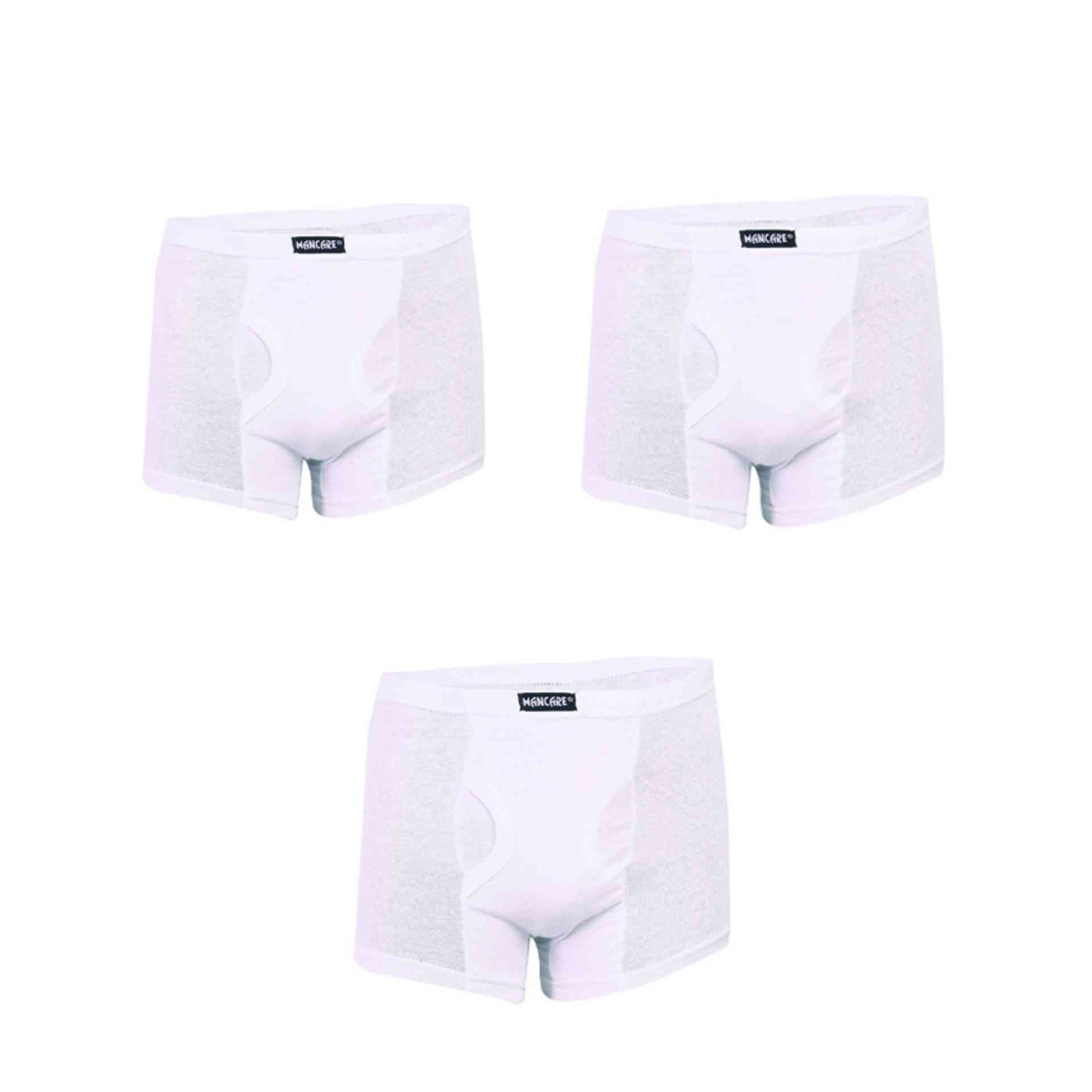 Mancare Pack of 3 Pure Cotton Underwear for Men - White