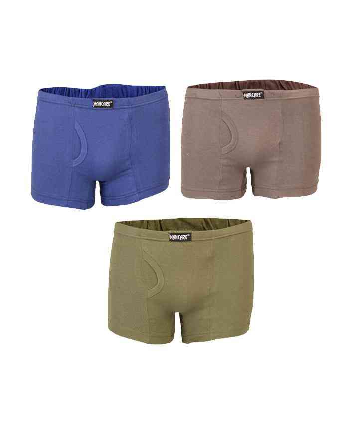 Mancare Pack of 3 Pure Cotton Underwear for Men - Multicolour