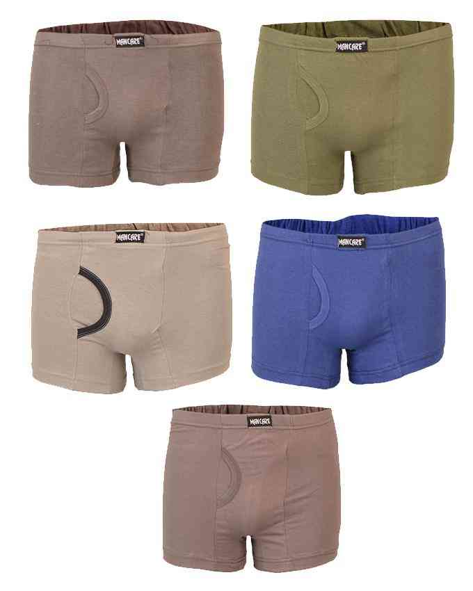 Mancare Pack of 5 Pure Cotton Underwear for Men - Multicolour