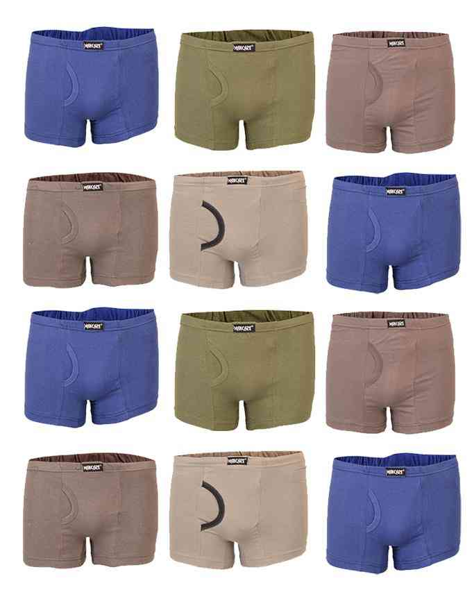 Mancare Pack of 12 Pure Cotton Underwear for Men - Multicolour