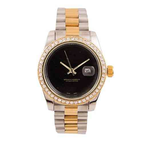 Japanese Sleek and Stylish Chronometer Watch for Men Silver and Gold