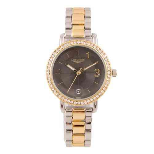 Japanese Sleek and Stylish Chronograph Chain Watch for Women Gold