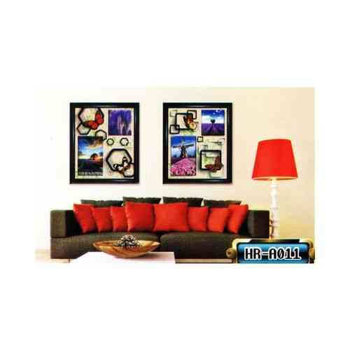 Pack Of 2 Wall Vintage Frame Wall Sticker For Living Sofa Room - Easily Removable
