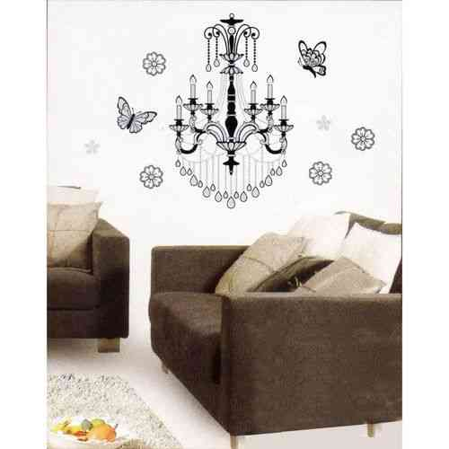 Chandeliers Jhoomar Wall Sticker For Living Room Sofa Room Bed Room Drawing Room - Easily Removable