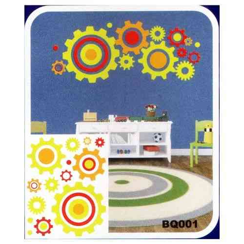 Mechanical Gears Industrial 3D Night Glowing Wall Sticker For Living Room - Easily Removable