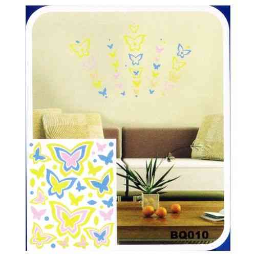 Butterflies Garden 3D Night Glowing Wall Sticker For Living Room - Easily Removable